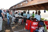Steelband auf Shirley Heights, Antigua (Foto: Henning Aicham)