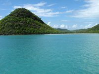 Ankerbucht mit Strand vor Jolly Harbour, Antigua